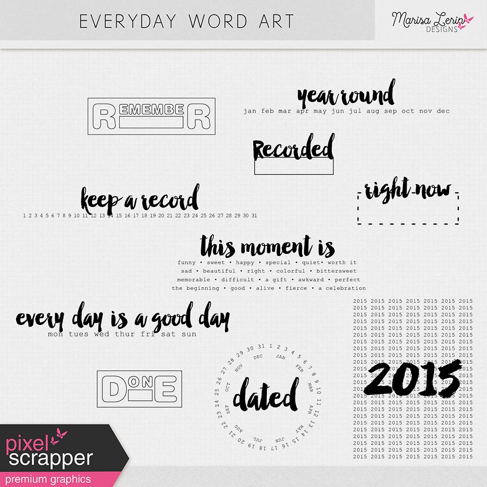 Everyday Word Art