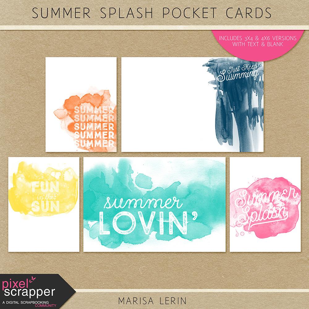 Summer Splash Pocket Cards