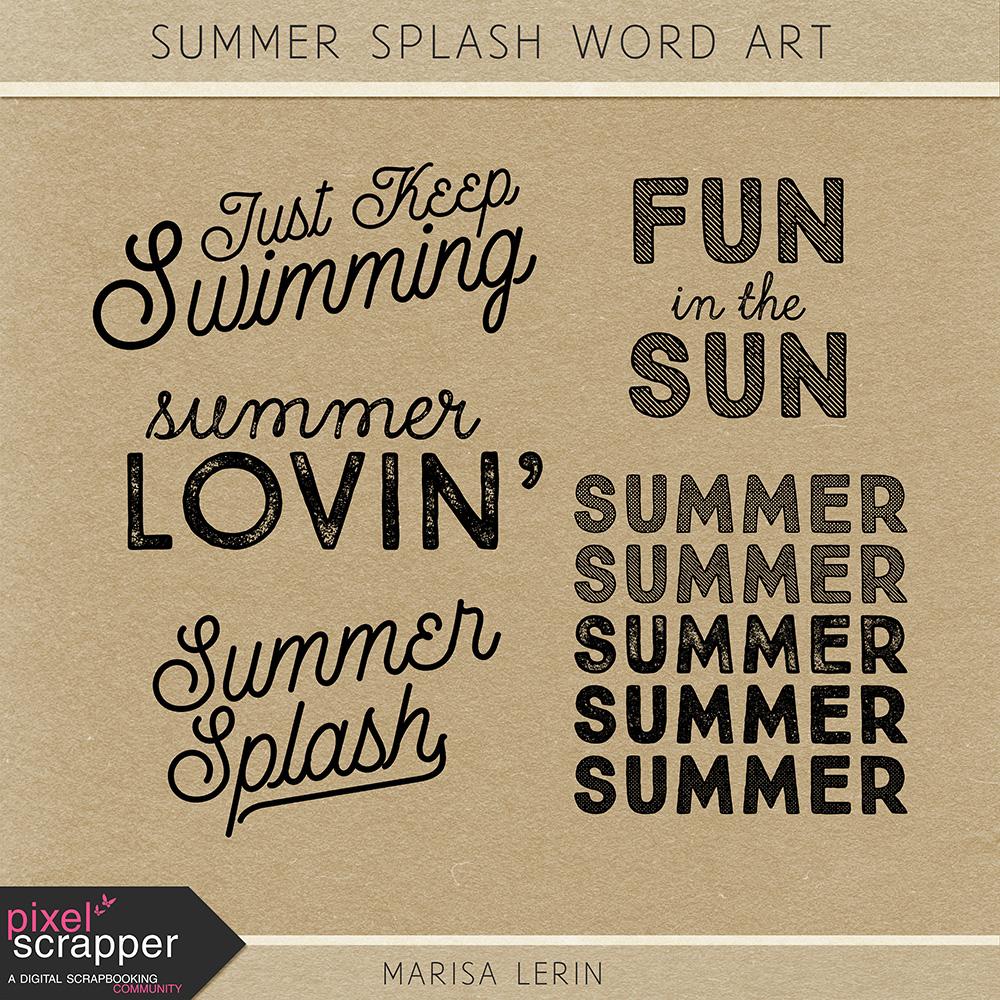Summer Splash Word Art