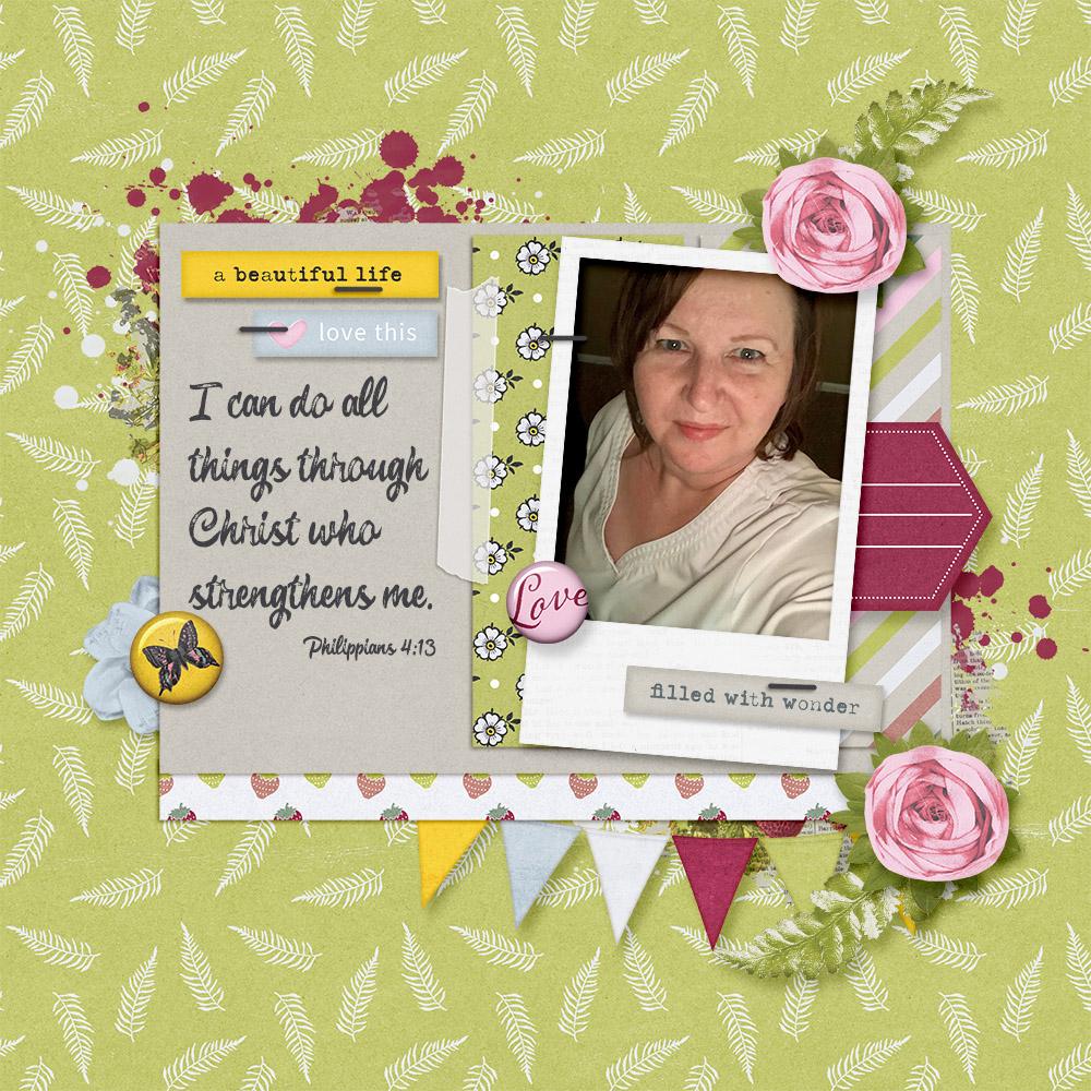 personal digital scrapbook page