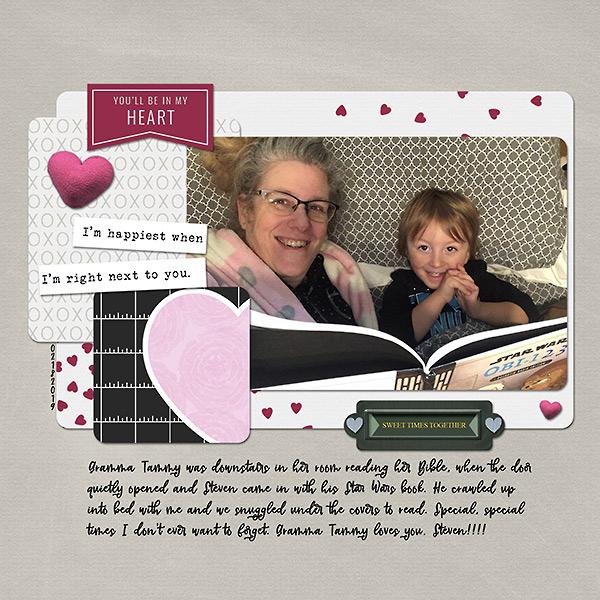 grandparents digital scrapbook layout