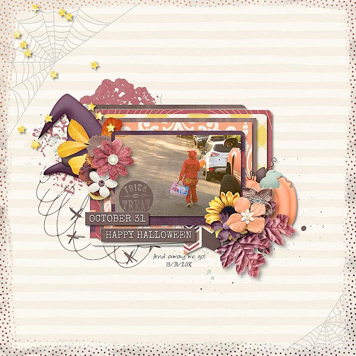 halloween digital scrapbooking layout