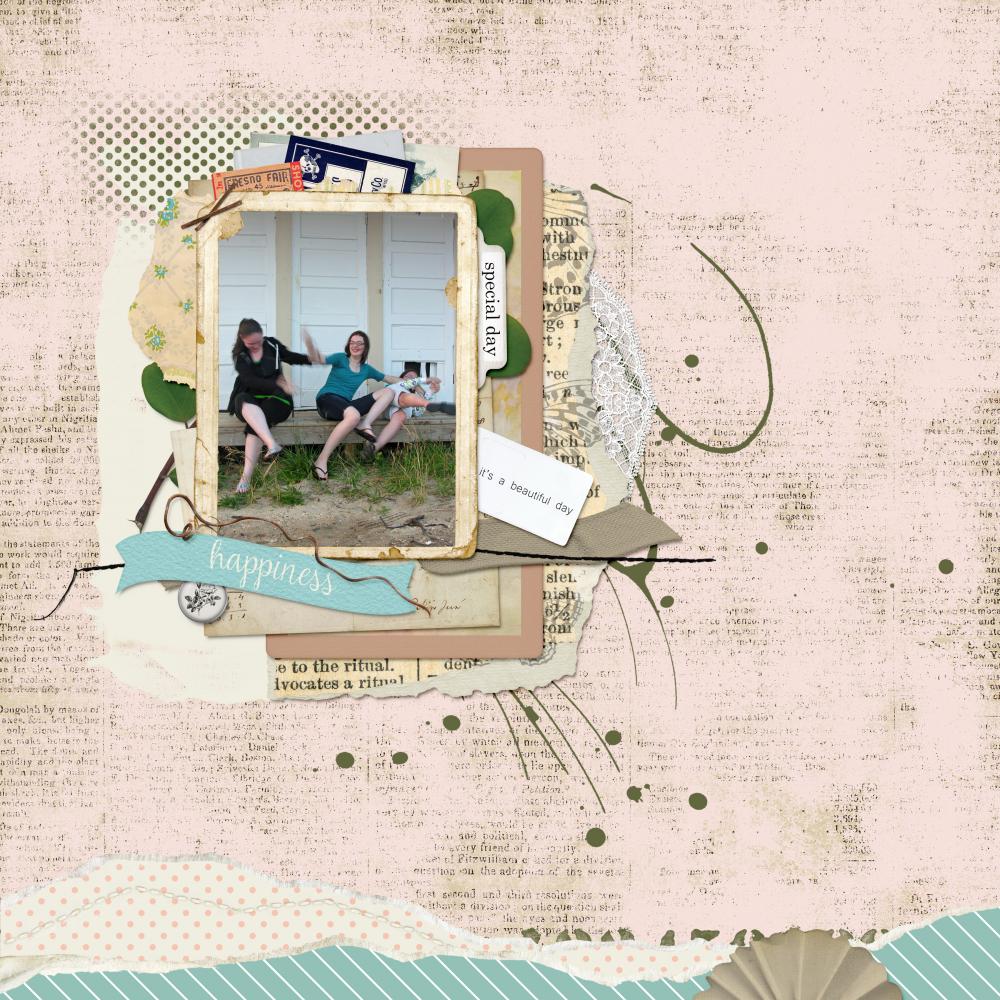 spring digital scrapbook layout