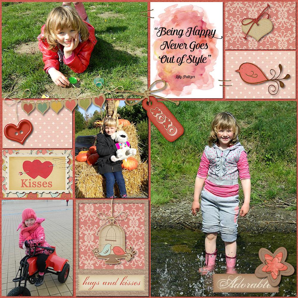 daughter digital scrapbook layout