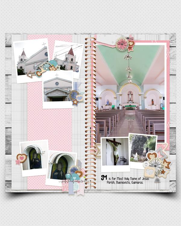 digital travelers notebook scrapbook layout