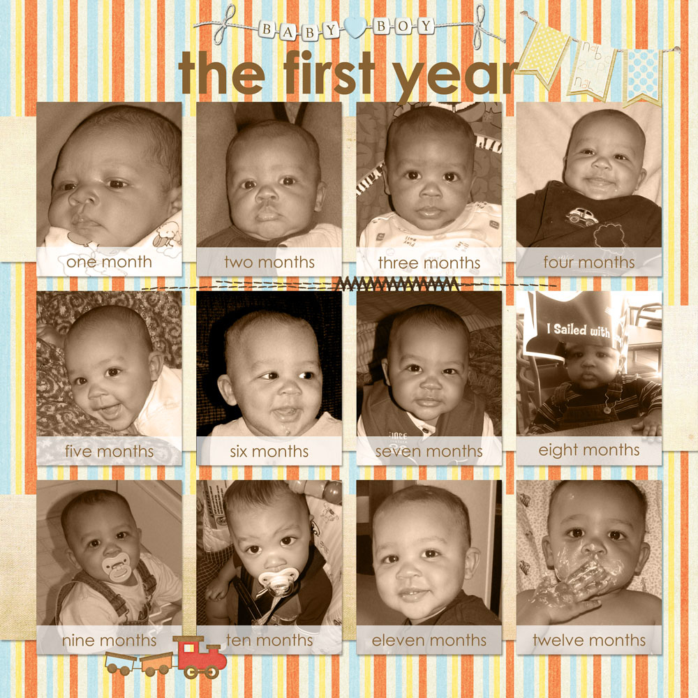 Ashtons Baby Book The First Year By Tina Shaw Pixel Scrapper