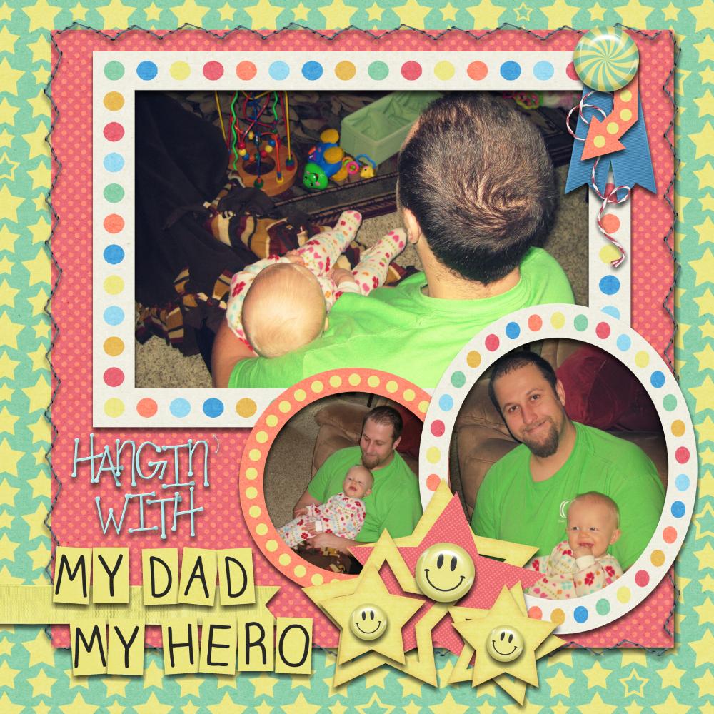 My Dad My Hero By Maggie Jett Pixel Scrapper Digital Scrapbooking