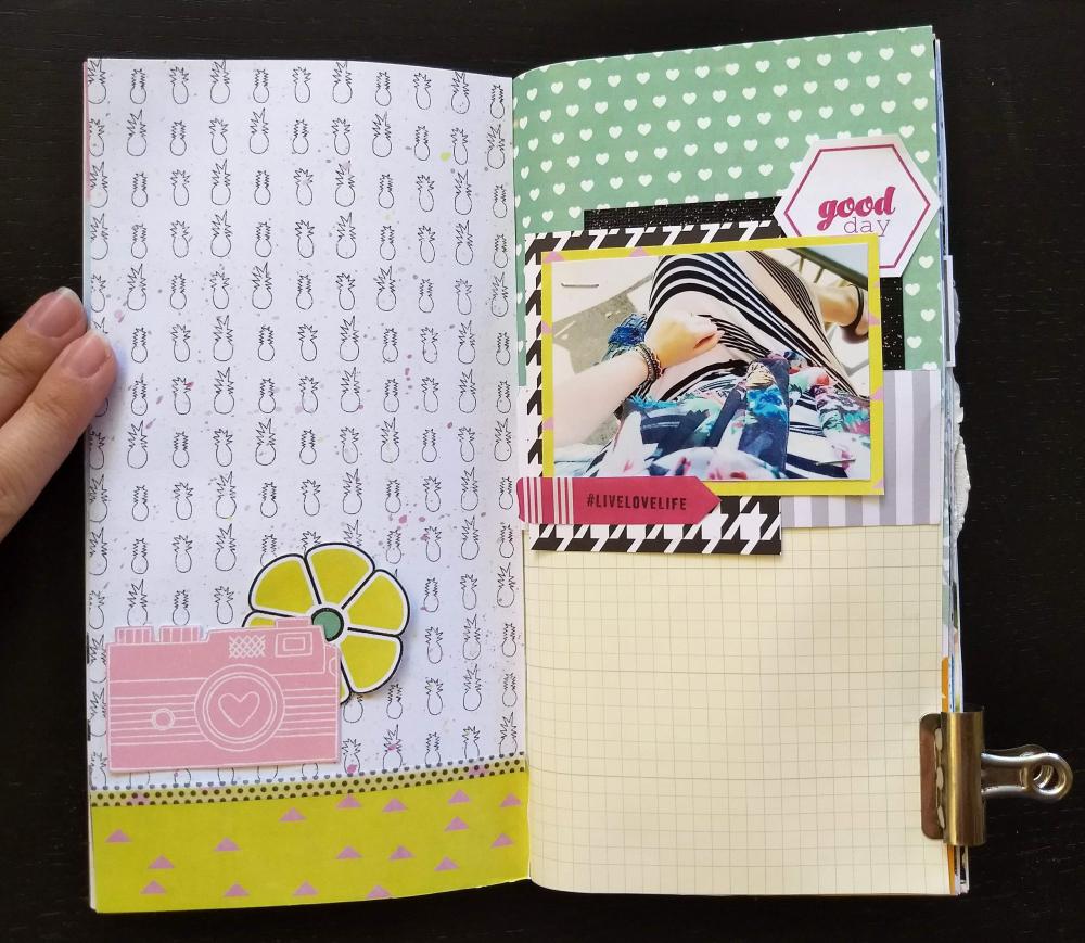 travelers notebook hybrid layout