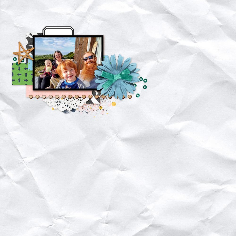 white background digital scrapbooking layout