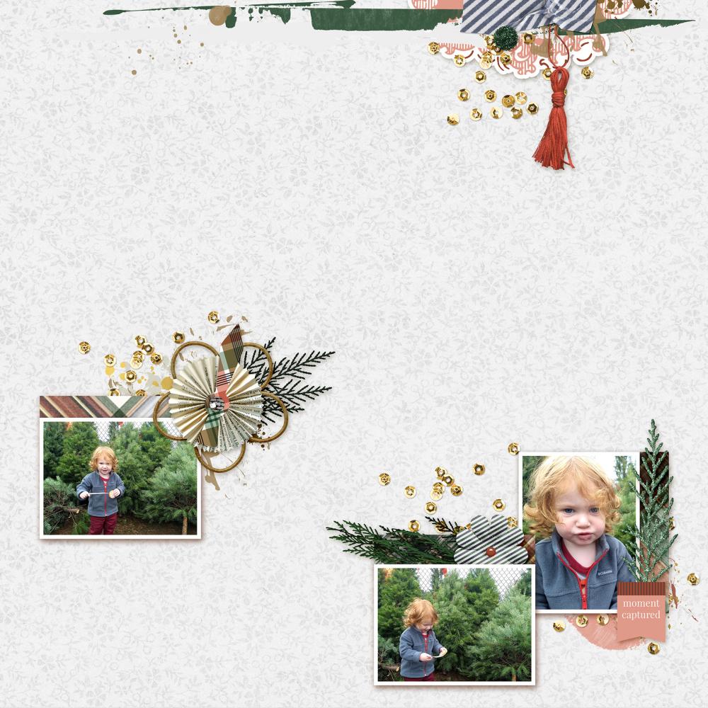 christmas digital scrapbooking layout