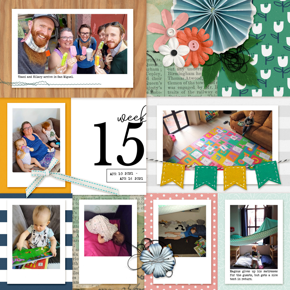 include your bad photos easily in this digital scrapbooking layout