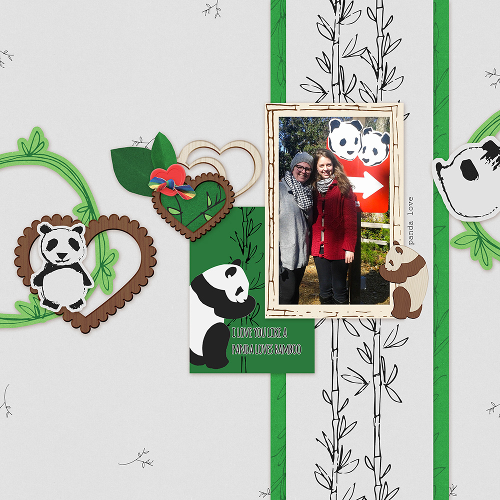 Panda Love Layout