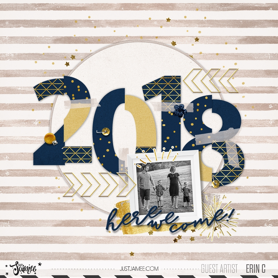2018 Here We Come By Erin Crouch Pixel Scrapper Digital Scrapbooking