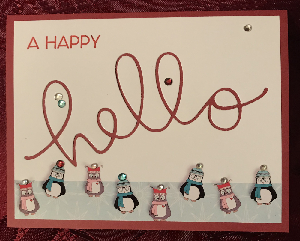 happy hello christmas card - Christmas Card Layout