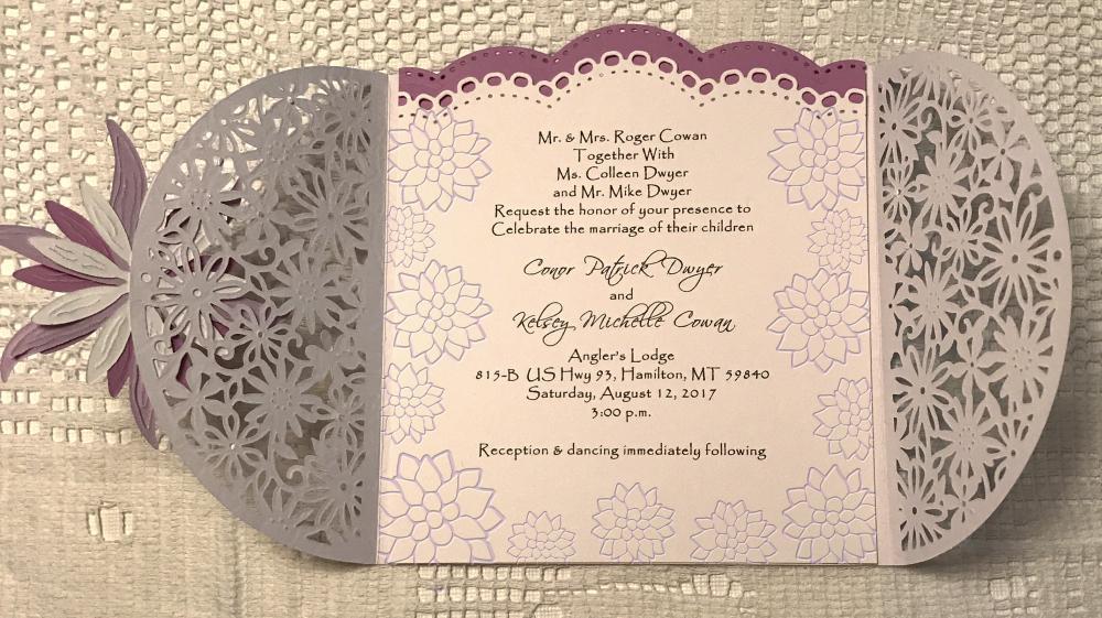 Hybrid Wedding invitation/ inside text design by Julie Cowan | Pixel ...