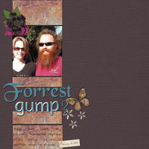 Forrest Gump By Sheri Webster Pixel Scrapper Digital Scrapbooking