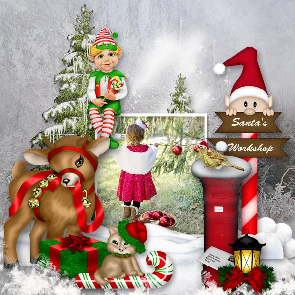 Père Noël Arrive Ce Soir By Bourico Casper Pixel Scrapper