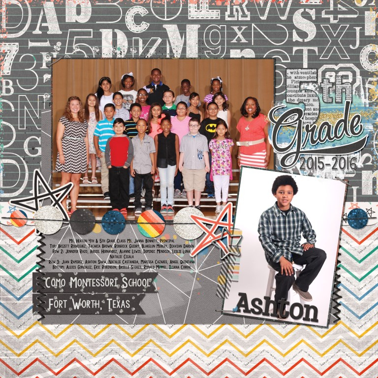 5th Grade By Kaleena Farmer Pixel Scrapper Digital Scrapbooking