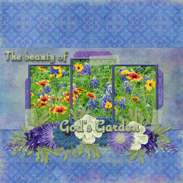 The beauty of God\'s Garden by poki Sawyer   Pixel Scrapper Digital ...