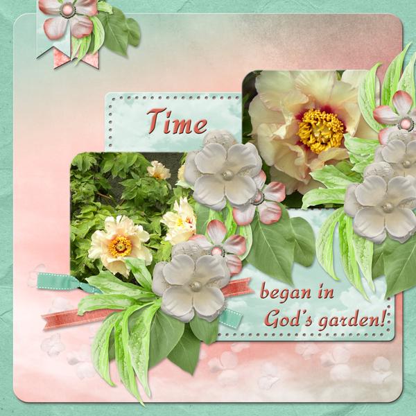 Time began in God\'s garden! by poki Sawyer   Pixel Scrapper Digital ...