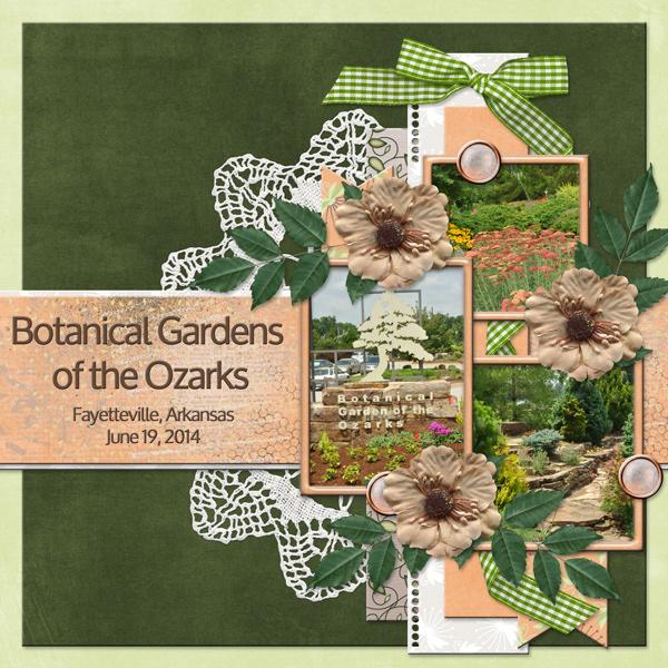 Botanical Gardens Of The Ozarks By Poki Sawyer Pixel Scrapper Digital Scrapbooking