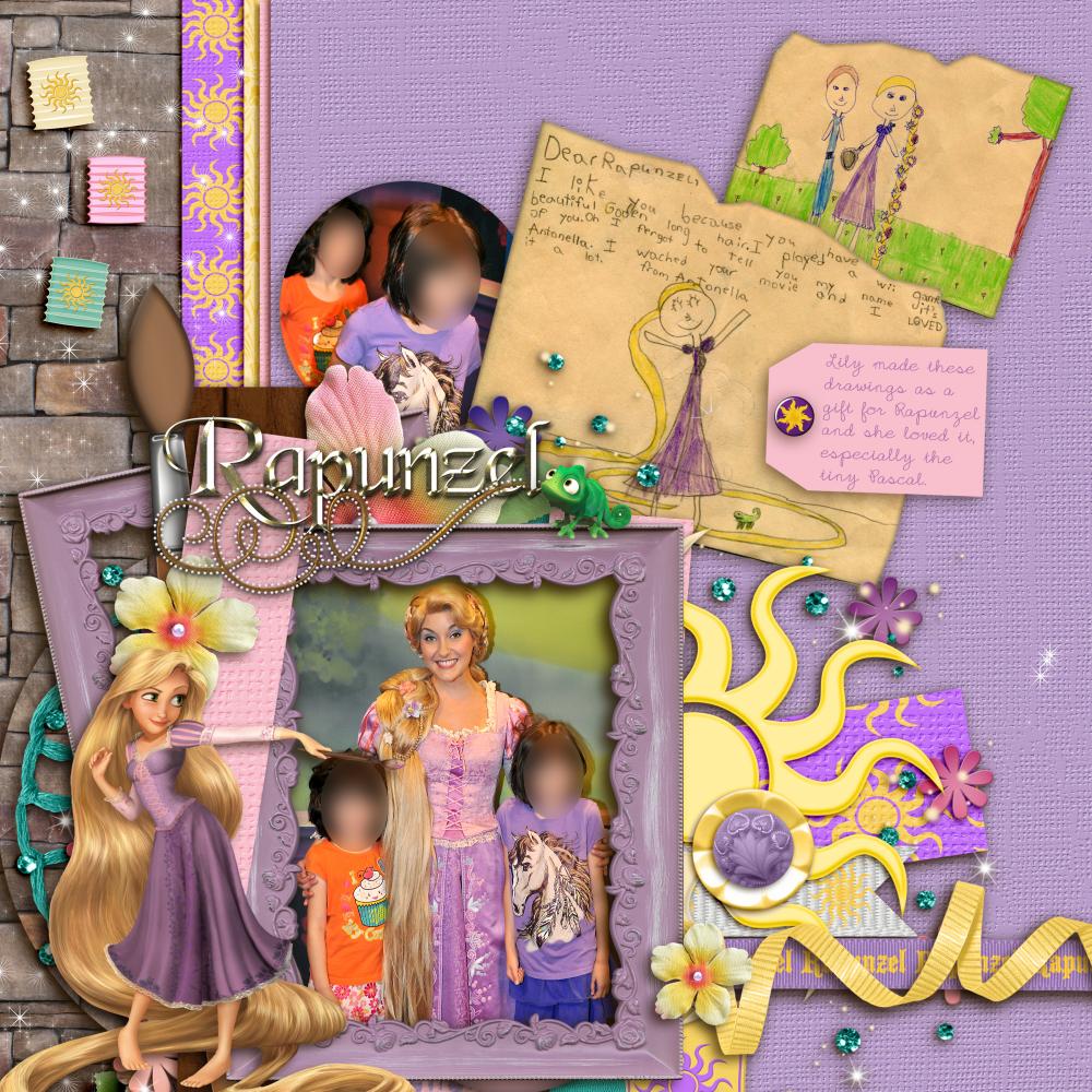 Tangled Disney Scrapbook Page Kit
