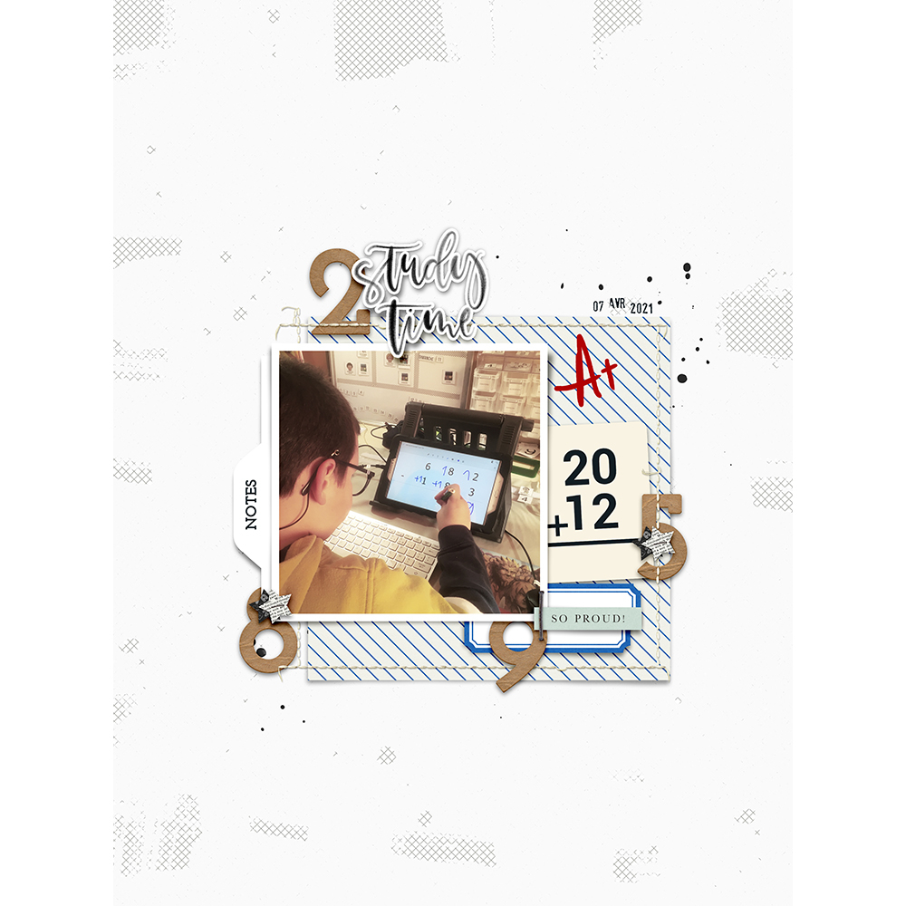 digital scrapbook layout