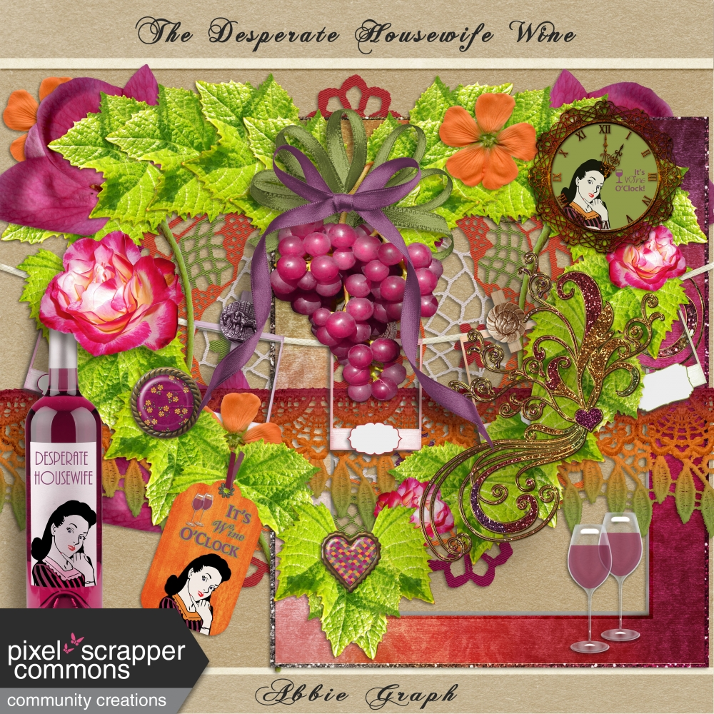 926316802ef The Desperate Housewife Wine Kit Embellishments by Sharon Grant ...