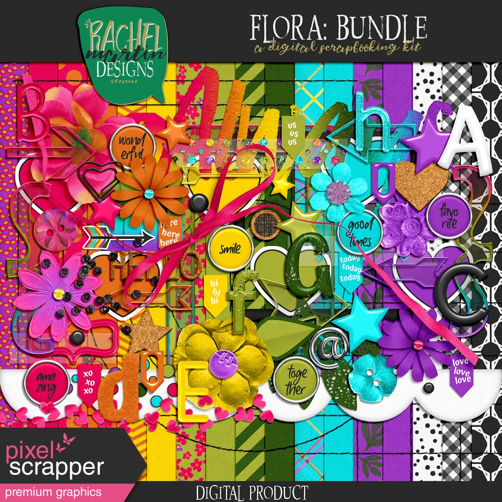 bright and fun digital scrapbooking kits