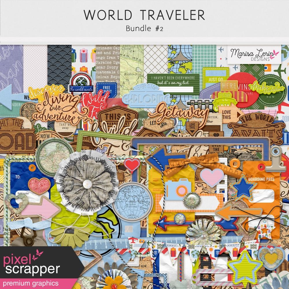 digital scrapbooking travel kits