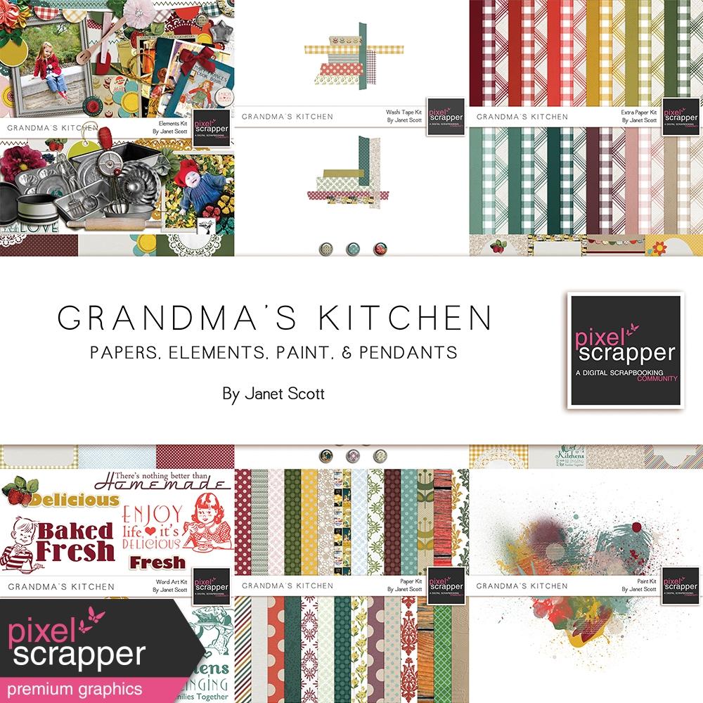 Grandma\'s Kitchen Bundle by Janet Scott | Pixel Scrapper Digital ...