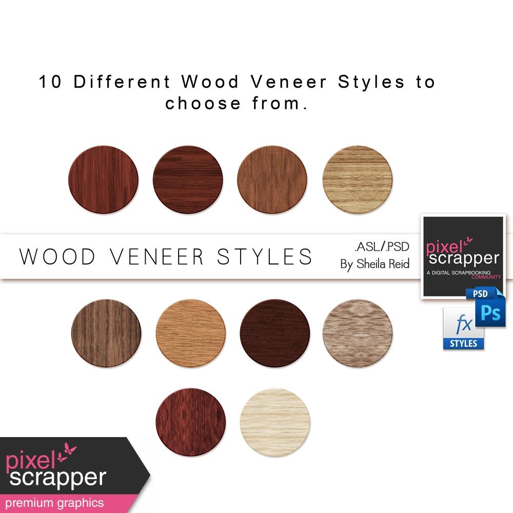 Wood Veneer Styles By Sheila Reid Graphics Kit Pixel