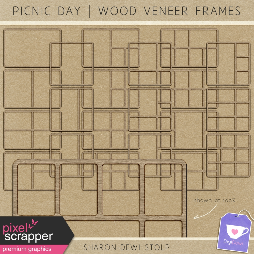 Picnic Day - Wood Veneer Frames by Sharon-Dewi Stolp graphics kit ...