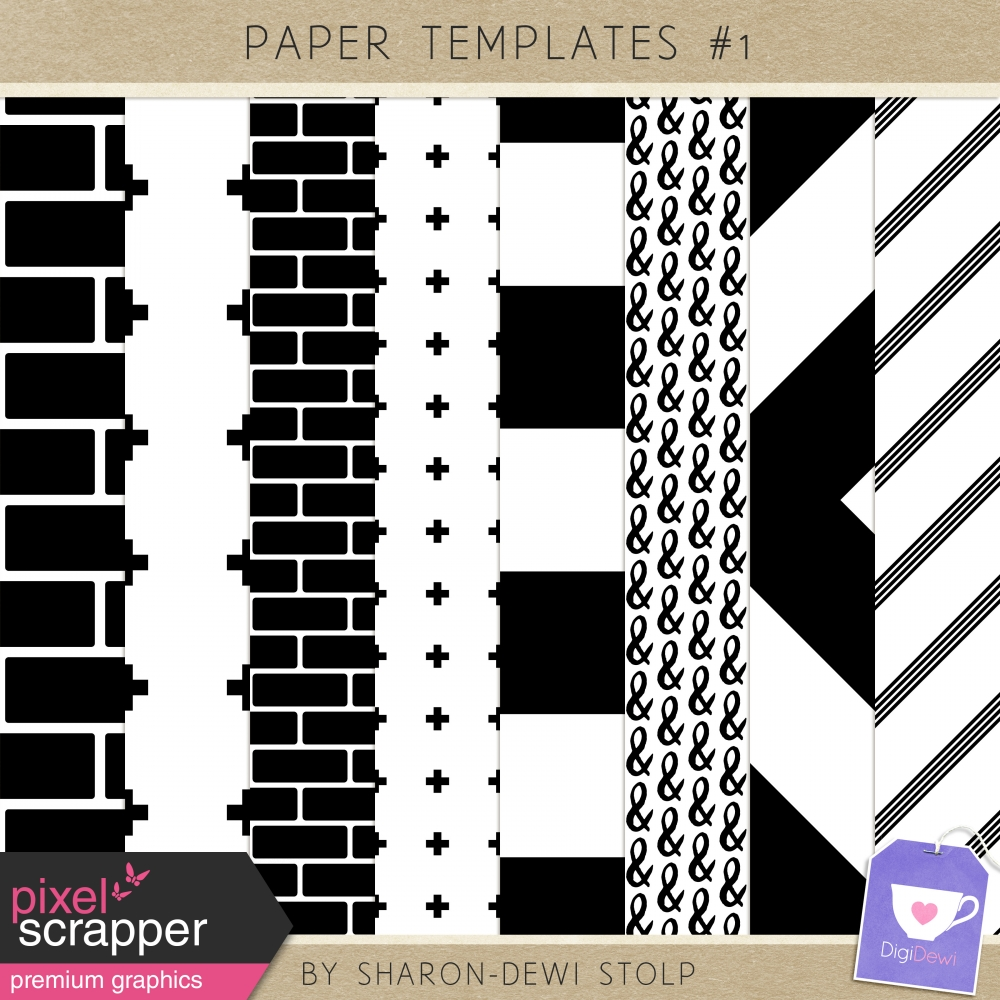 Paper Templates 1 By Sharon Dewi Stolp Graphics Kit Pixel
