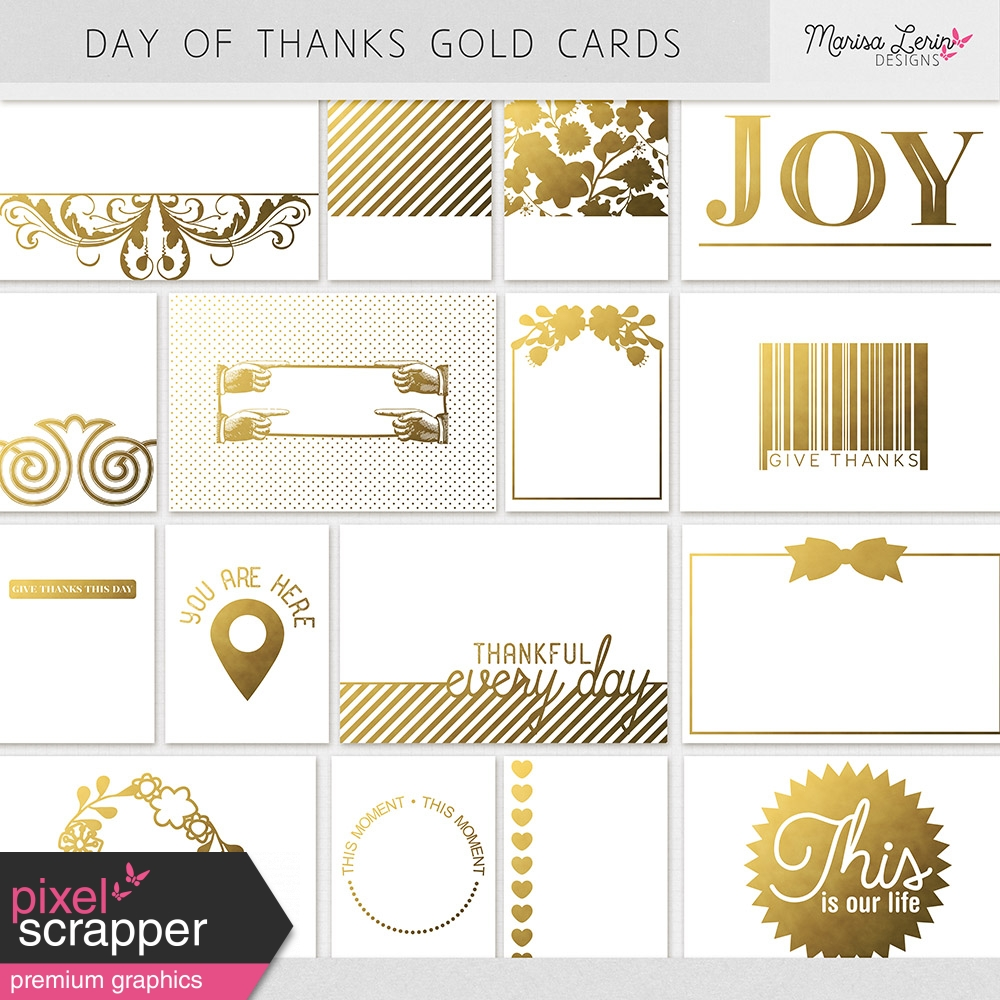 Gold Pocket Cards