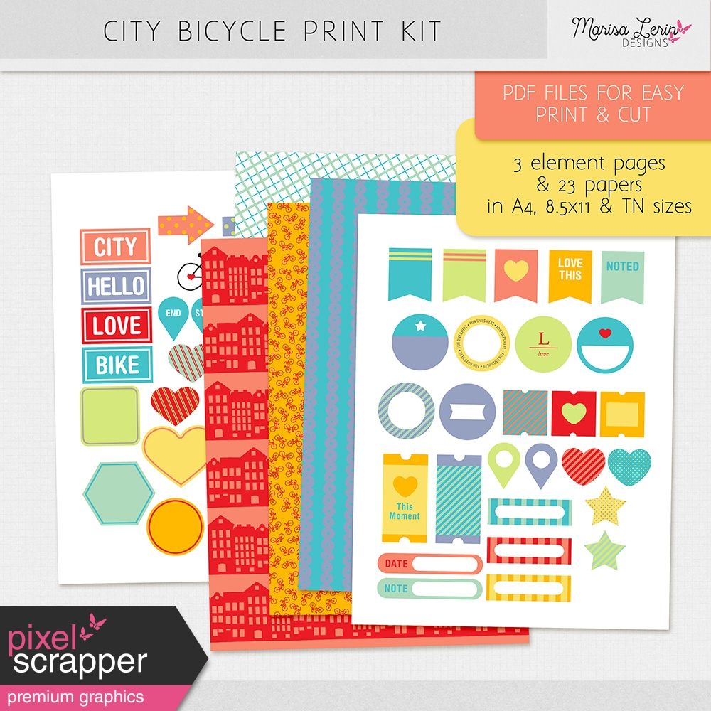 City Bicycle Print Kit