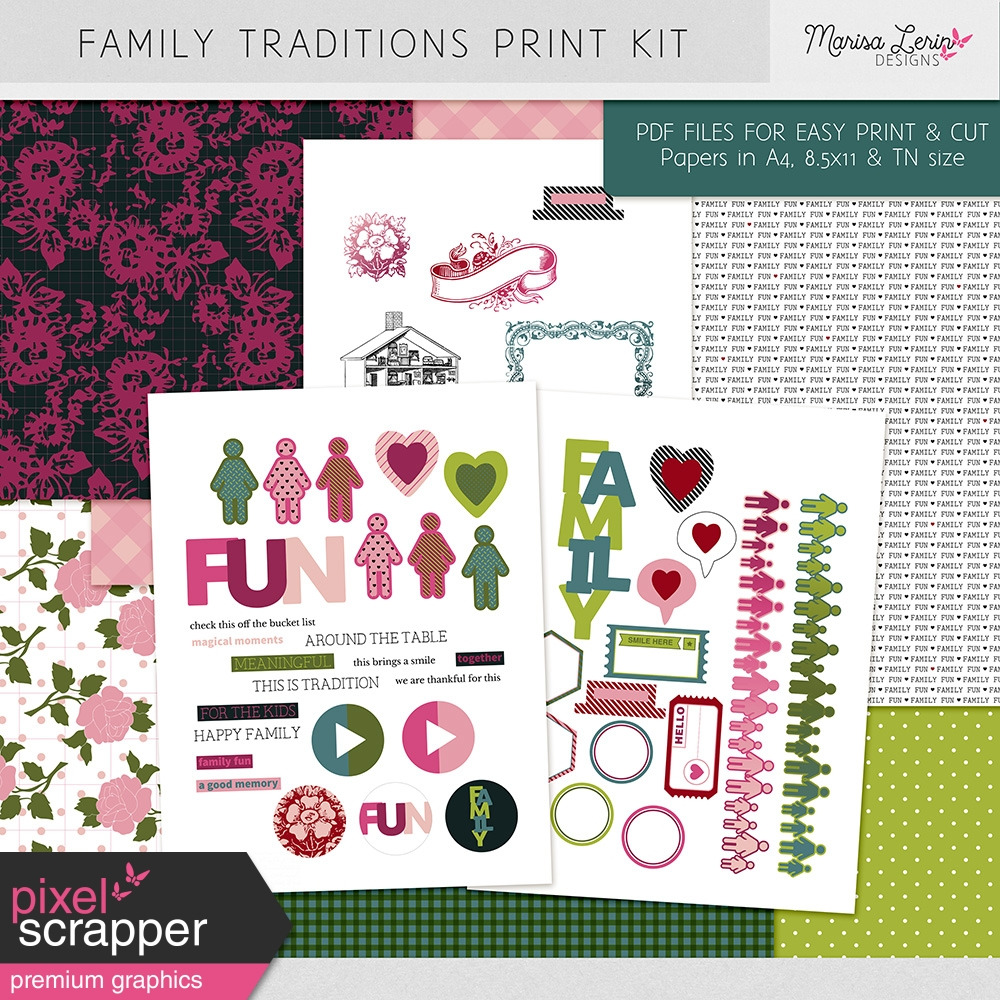 family traditions print