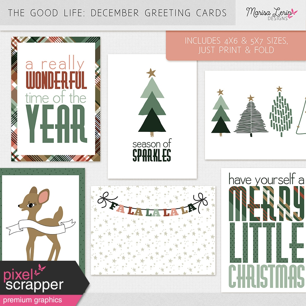 New Today: Holiday Greeting Cards by Marisa Lerin | Pixel Scrapper ...