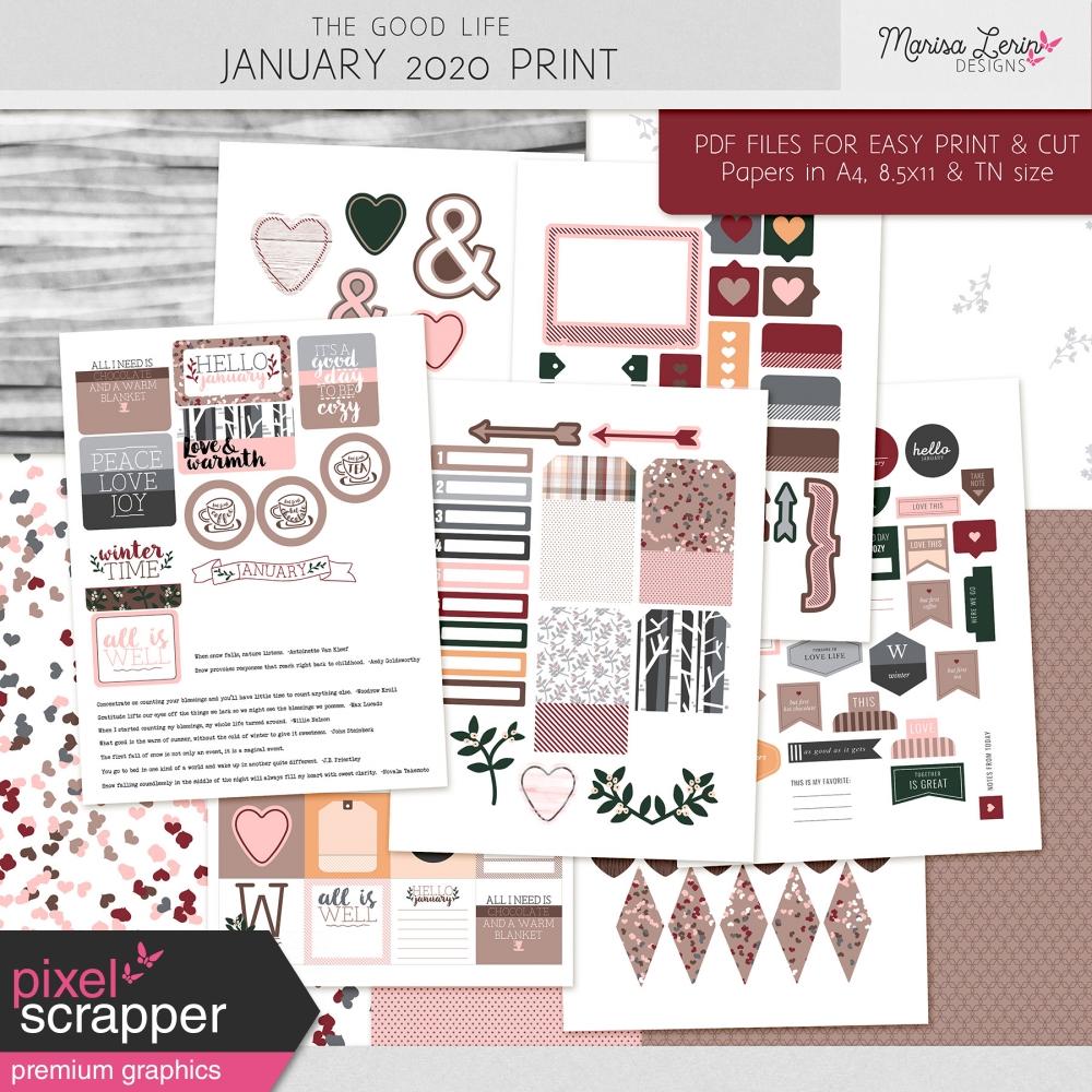 The Good Life: January 2020 Print Kit by Marisa Lerin ...