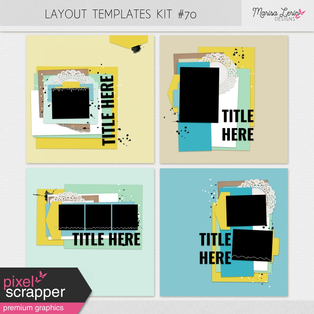 digital scrapbooking layout templates