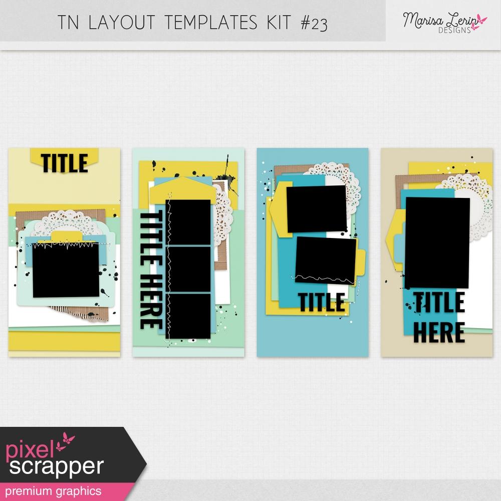 travelers notebook digital scrapbooking layout templates kit