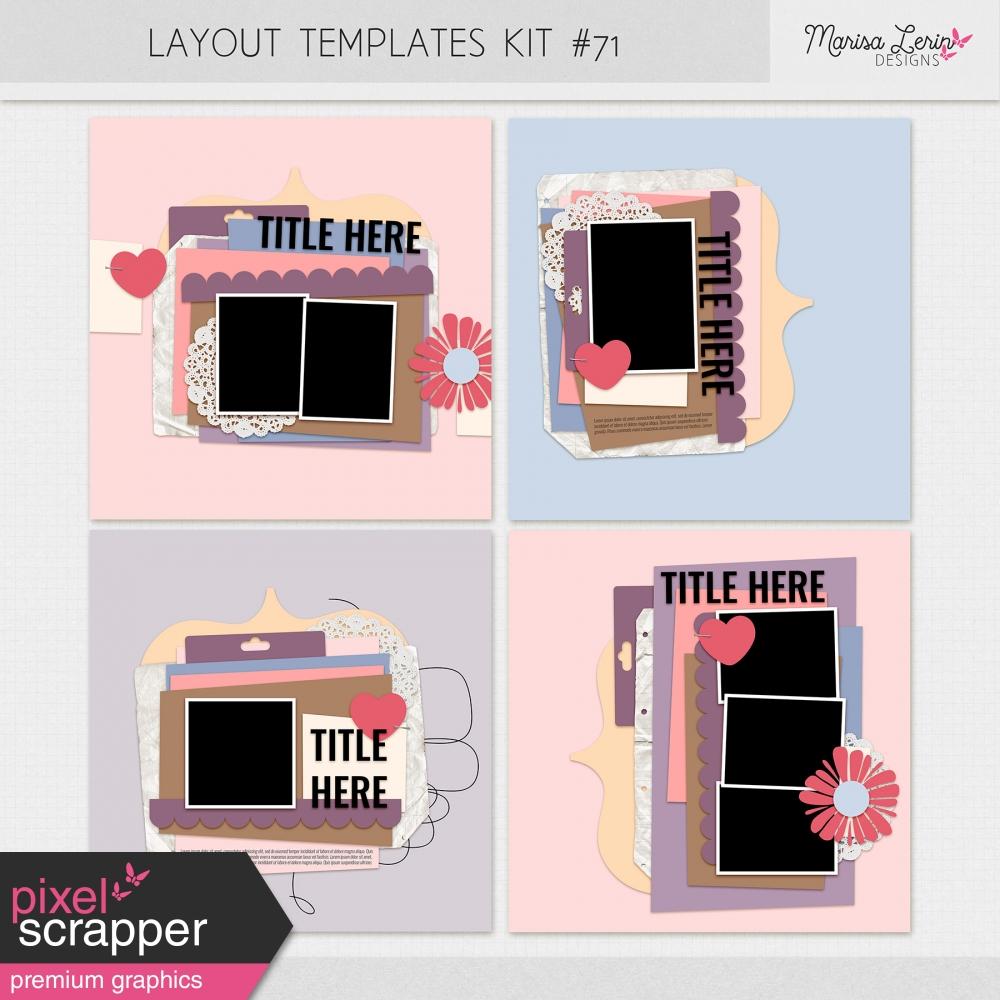 digital scrapbooking layout templates kit