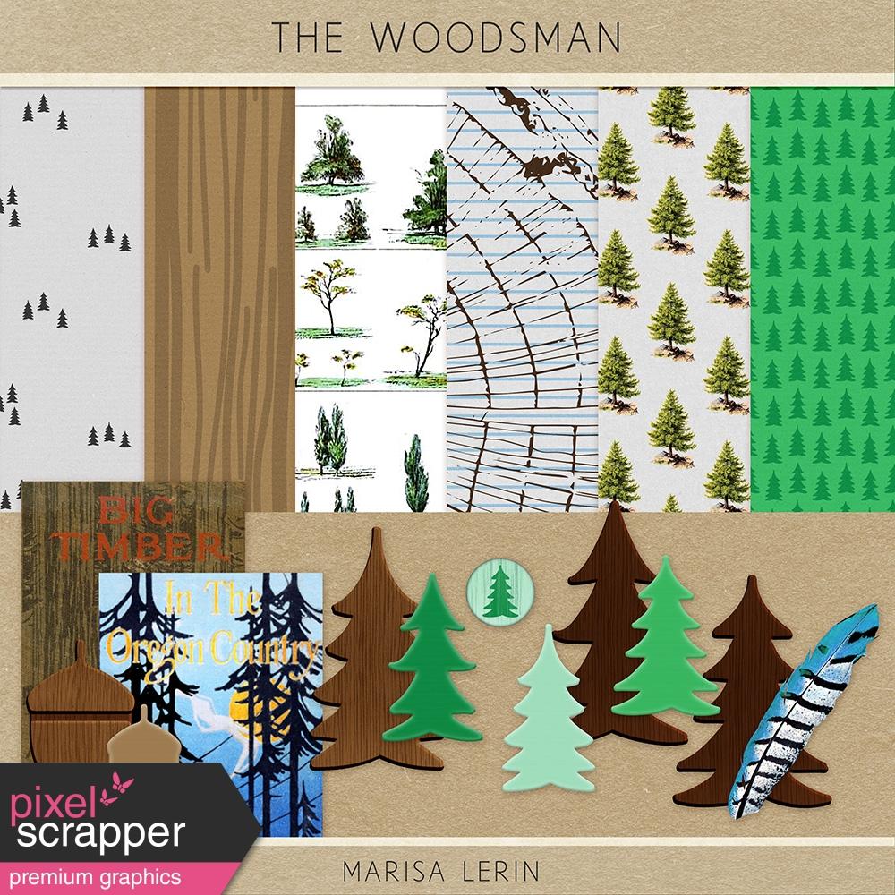 The Woodsman Mini Kit By Marisa Lerin Graphics Kit Pixel Scrapper