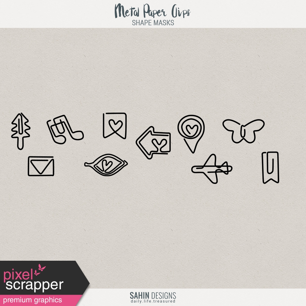 Paper Clip Templates Kit by Elif Şahin graphics kit | Pixel Scrapper ...
