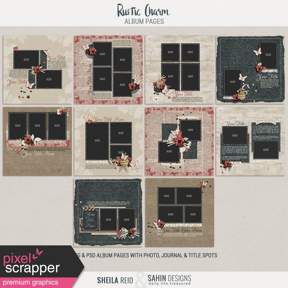 Rustic Charm Album Pages Pngs By Collaborations Graphics