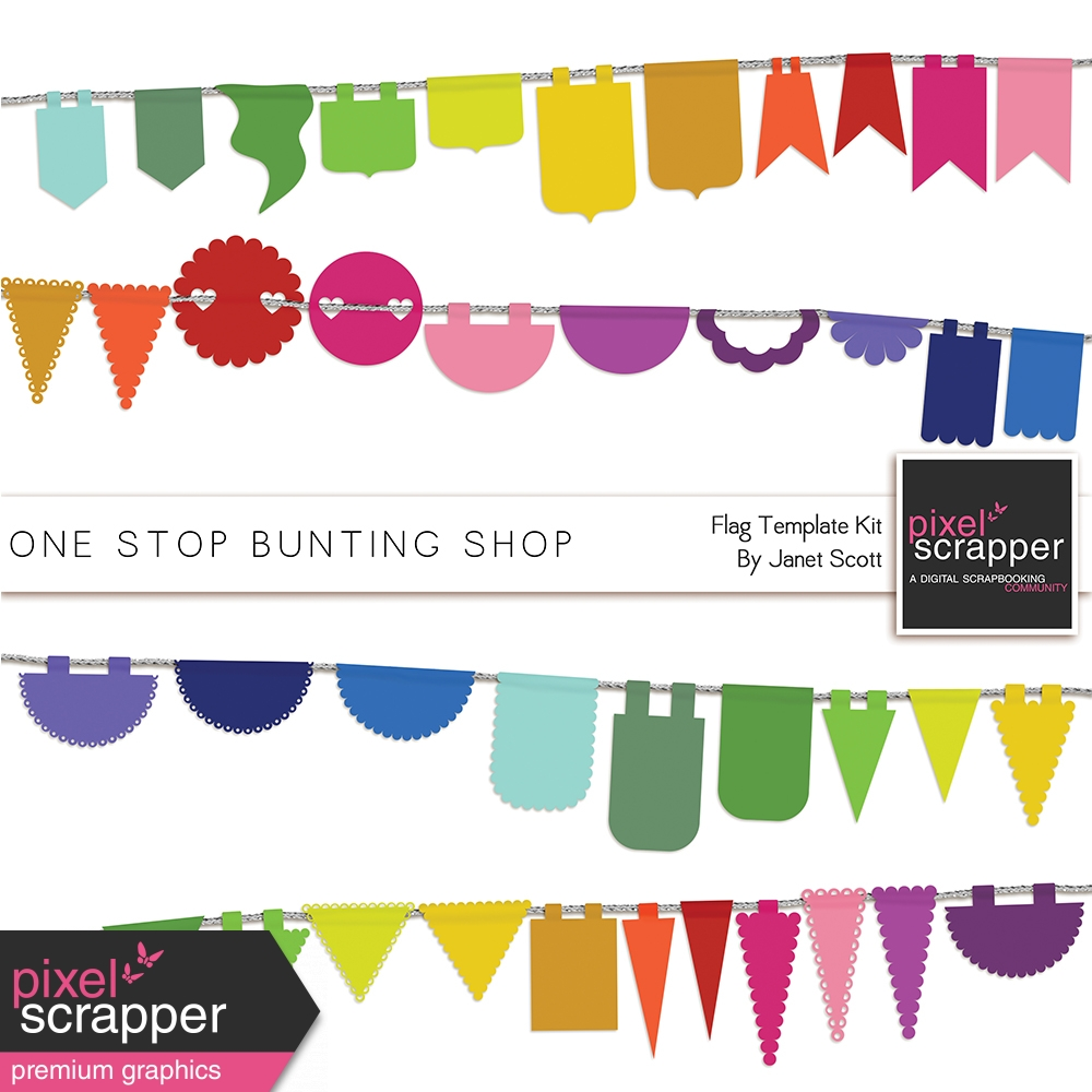 one stop bunting shop shape mask flags template kit by janet scott