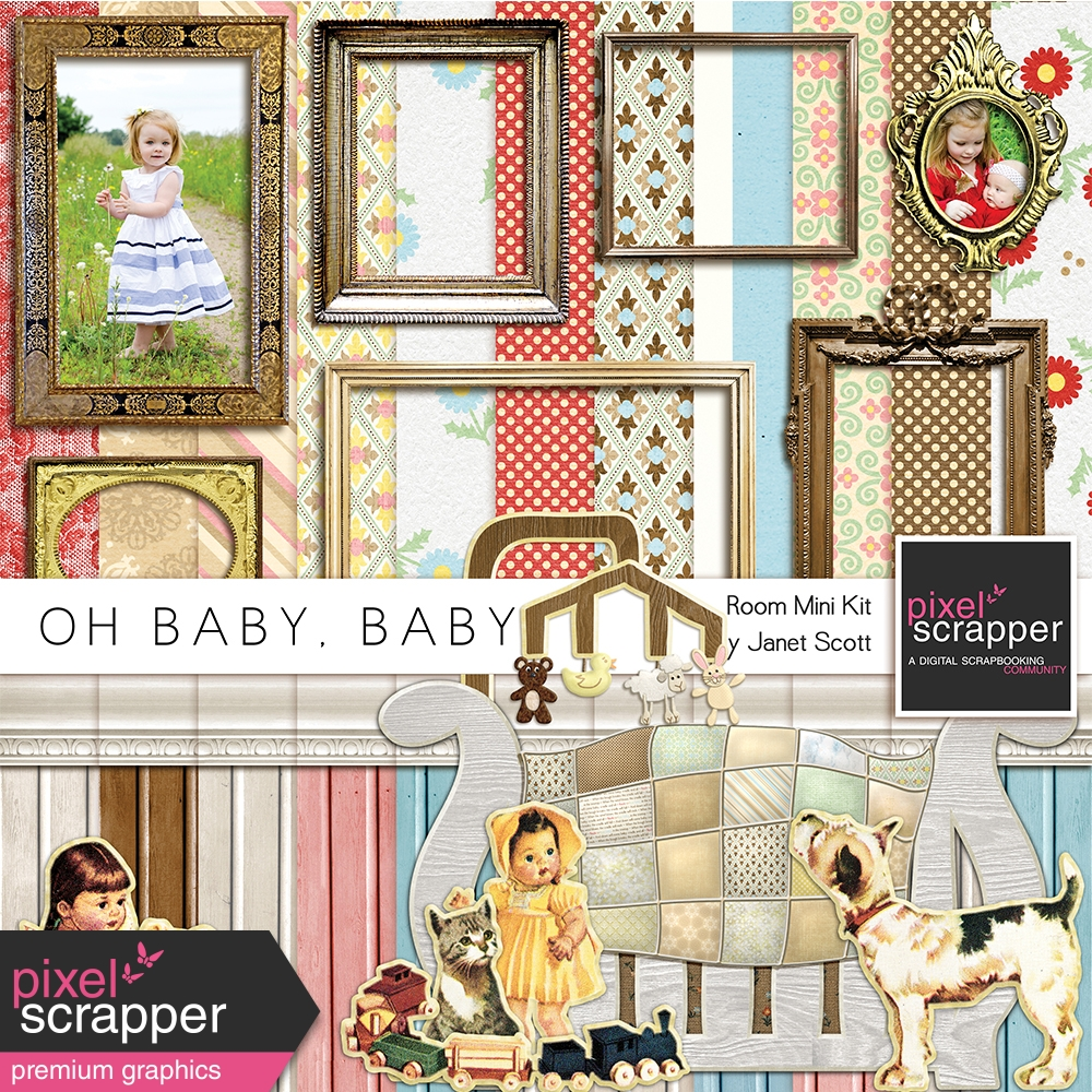 Oh Baby, Baby - Bedroom Papers and Elements Kit by Janet Kemp