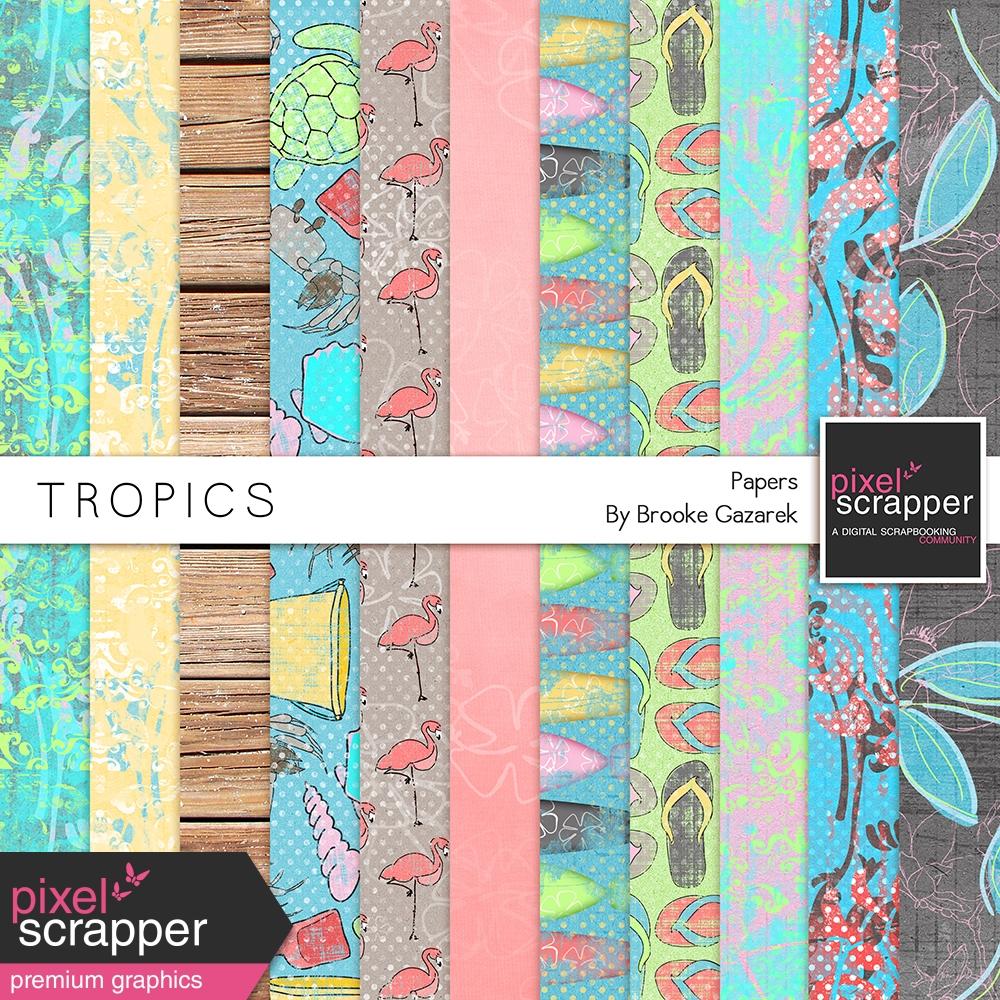 6585c7746978 Tropics Papers Kit by Brooke Gazarek graphics kit