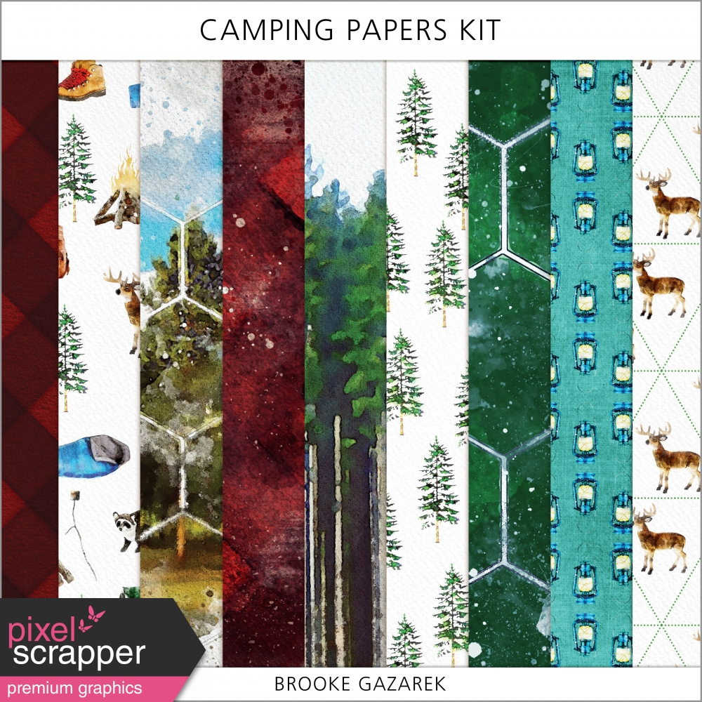 watercolor camping