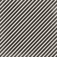 No Tricks, Just Treats - Black & White Diagonal Stripe Paper